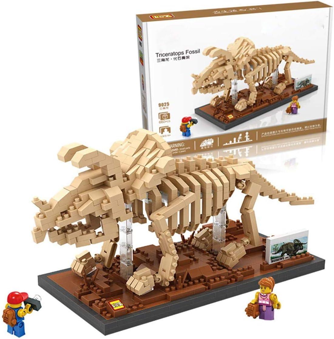 LAL6 Bloques De Construcción, Fósil De Dinosaurio Esqueleto Nano Micro Bloques 3D Puzzle Bricolaje Juguete Juguetes Modelo De Ladrillo, Nano-Mini Building Blocks Juguetes De DIY Niños (660pcs)