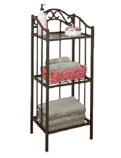 Amazon.com: ATS Bathroom Shelving Unit 3 Shelves Storage Corner ...