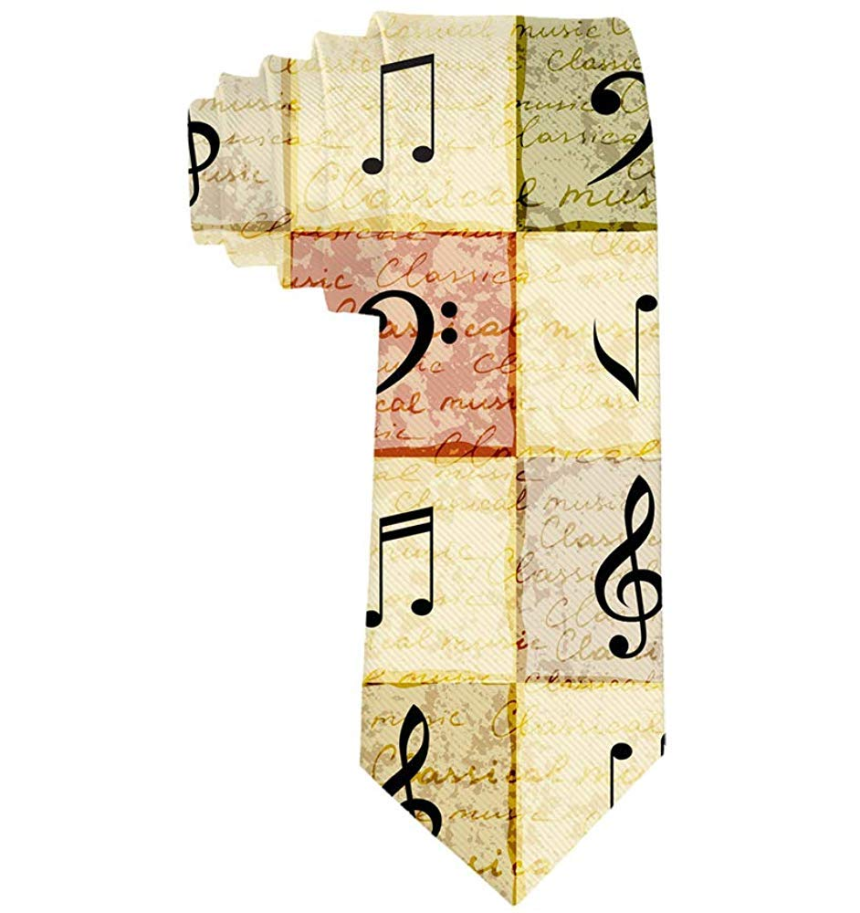 Música para hombres Notas musicales Corbata Regalo Novedad ...
