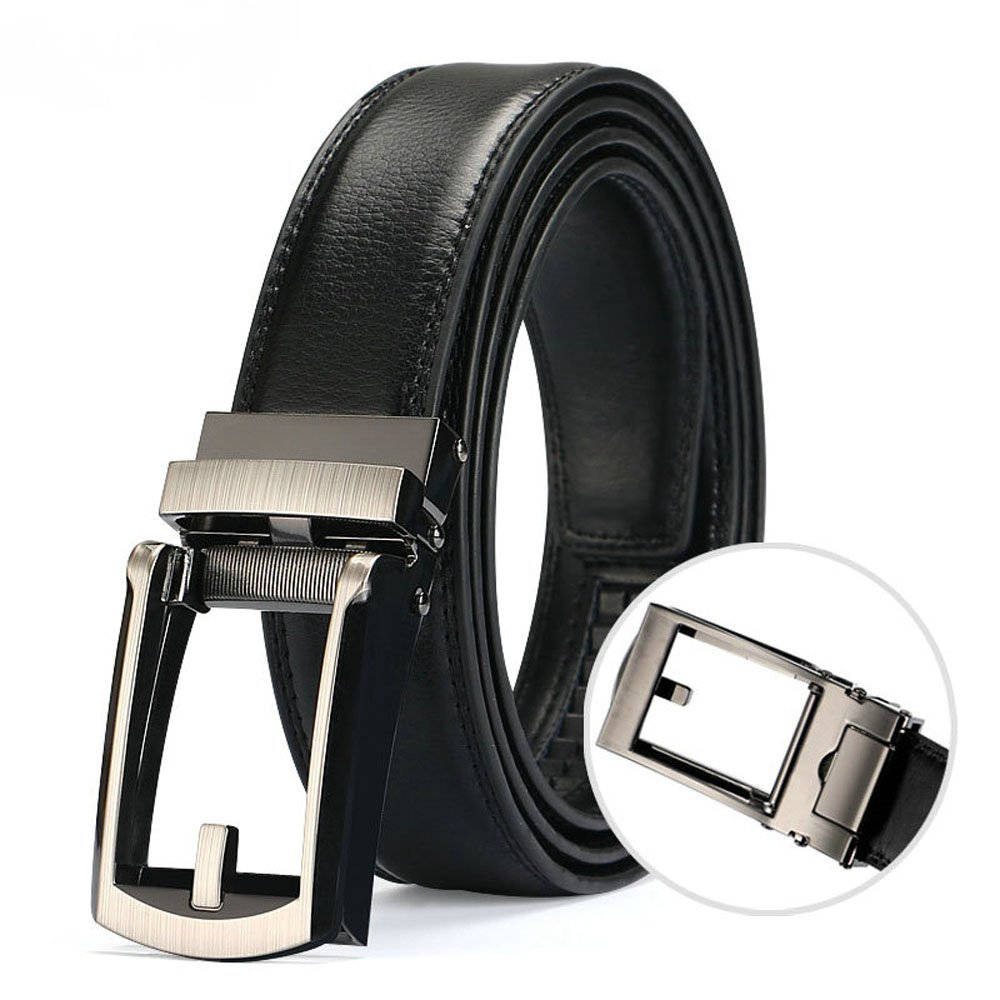Men's Comfort Ratchet Click Belt, Holeless with automatic sliding buckle MZlots