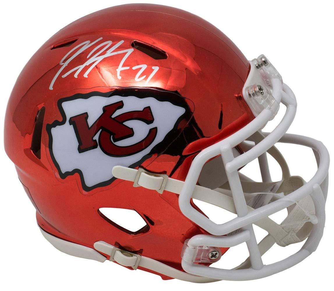 Kareem Hunt Signed Kansas City Chiefs Riddell CHROME Mini Speed Helmet JSA