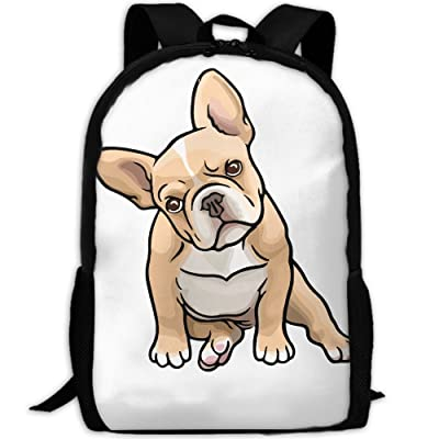 Frenchie Cute Puppy Luxury Print Men And Women's Travel Knapsack