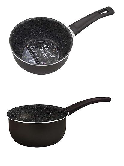 Inducción olla 1,5 litros Cacerola Cazo 16 cm Salsa Sartén para salsa olla aluminio