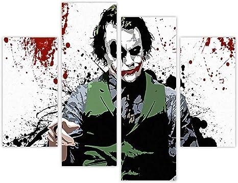 Iconic Batmans Joker With Blood Splatter In Room Pop Art Extra Large New Age Art Photo