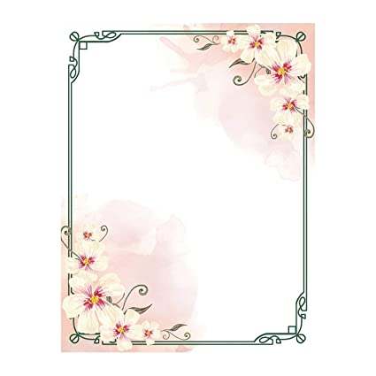 Amazon.com: 100 Stationery Writing Paper, with Cute Floral Designs