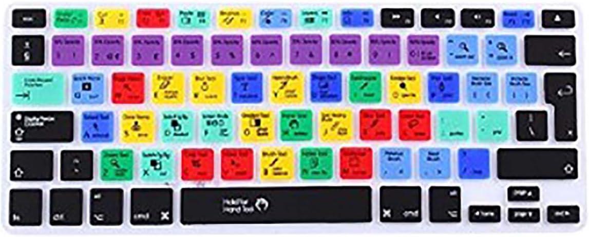 Fundas para teclado Macbook EU/UK; carátula para teclado para atajos / teclas de acceso rápido de Adobe Photoshop, para Macbook Air 13 y Macbook Pro 13 15 17; Macbook Pro 13 Retina;