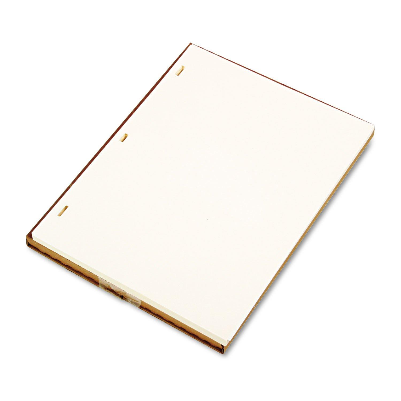 Wilson Jones 90110 Plain Ledger Paper, 11'' x8-1/2, 100/BX, Ivory Super Linen