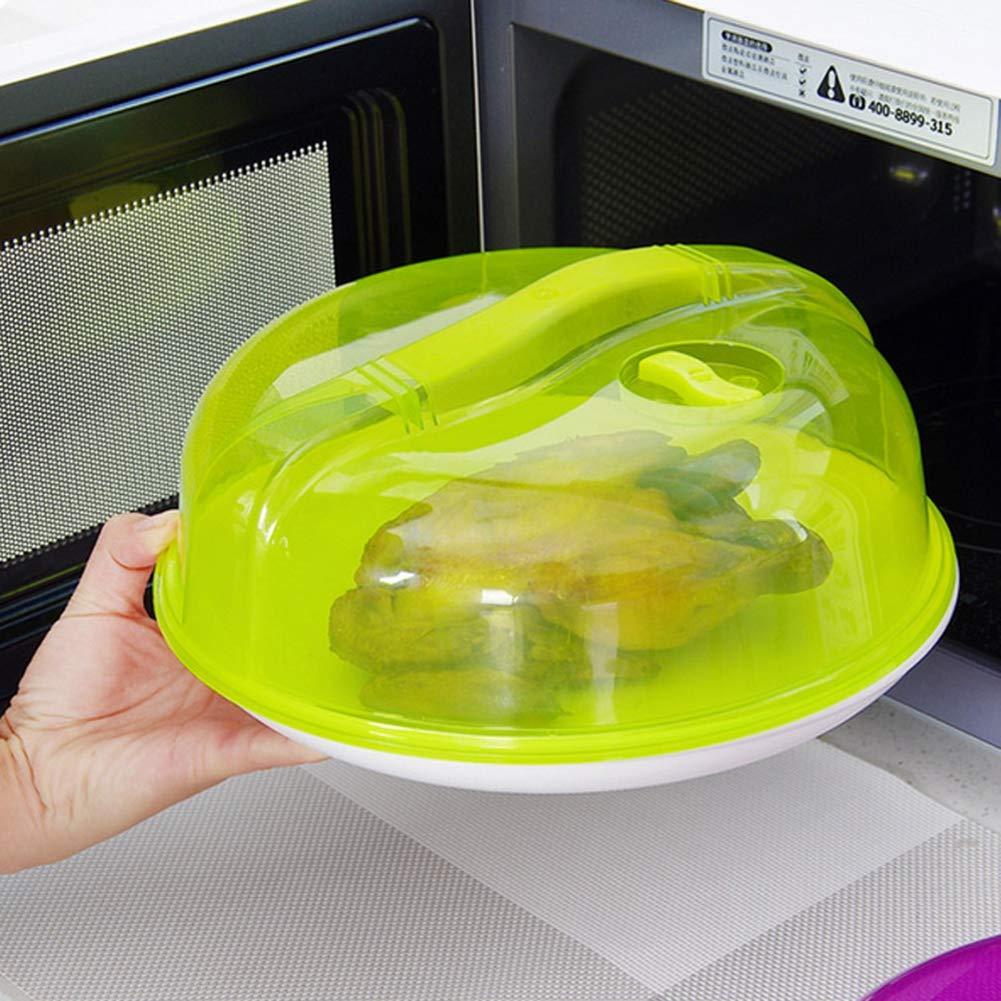 Cubierta de plástico para placa de microondas para horno con tapa ...
