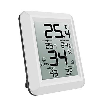 ORIA Innen Thermo Hygrometer, Digital Thermometer Indoor Temperatur ...