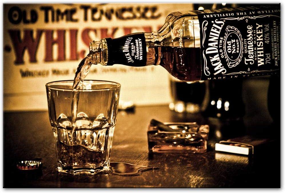 YB Jack Daniels Drinks Wall Poster und Drucke Moderne Leinwandbilder Druck auf Leinwand Bar Dekorative Bilder F/ür Wohnkultur-50x75cm ohne Rahmen
