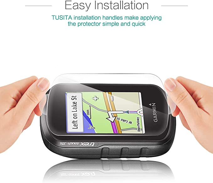 9H Dureza Cristal Templado para Garmin eTrex Touch 25 35 35t Ultrafino Vidrio 2 Unidades 0.33mm Protector Pantalla con Kit de Instalaci/ón sin Burbujas Ultraresistente