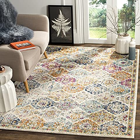 Safavieh Madison Collection MAD611B Bohemian Vintage Cream and Multi Area Rug (9' x 12') (Area Rug 12 By 12)