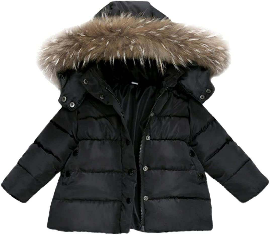FORESTIME/_baby clothes girl FORESTIME Girls Collar Long Sleeve Solid Color Warm Winter Thickening Coats
