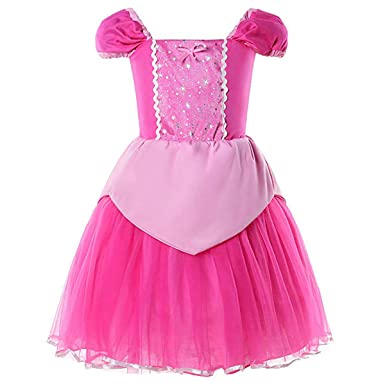 a5b479a3a Amazon.com: Baby.Yep Princess Snow White Cinderella Rapunzel Aurora Little  Mermaid Dress Costume for Baby Toddler Girls: Clothing