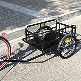 Esright Foldable Bike Trailer Cargo Utility Luggage Bicycle Trailer (Black)