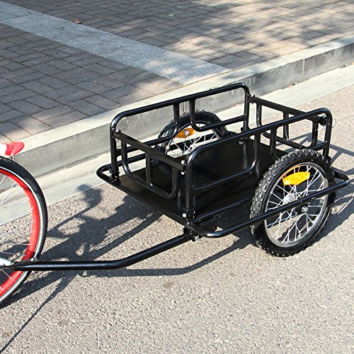 Why Choose Esright Foldable Bike Trailer Cargo Utility Luggage Bicycle Trailer (Black)