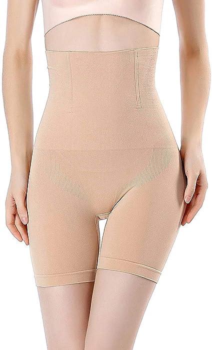 9ece03cd4a0 FLORATA Women High Waist Tummy Control Panties Bodyshorts Body Shaper Thigh Slimmer  Shapewear