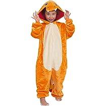 YAOMEI Niños Unisexo Onesies Kigurumi Pijamas, Niña Traje Disfraz Animal Pyjamas, Ropa de Dormir Halloween Cosplay Navidad Animales de Vestuario