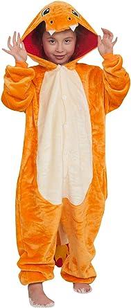 Comprar YAOMEI Niños Unisexo Onesies Kigurumi Pijamas, Niña Traje Disfraz Animal Pyjamas, Ropa de Dormir Halloween Cosplay Navidad Animales de Vestuario Talla 110