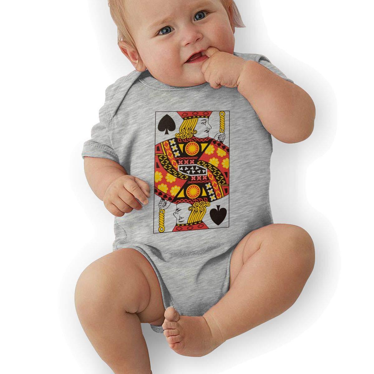 Poker J Newborn Baby Short Sleeve Romper Infant Summer Clothing