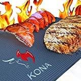 "Kona XL Best Grill Mat - BBQ Grill Mat Covers The Entire Grill - Premium Non-Stick 25""x17"""