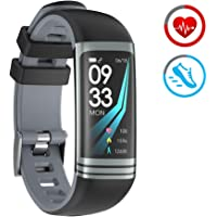 ZKCREATION Montre Connectée Montre Sport avec Cardiofréquencemètre Podomètre Calorie Sommeil IP67 Étanche Bracelet Montre Tactile Compatible avec Android et iOS
