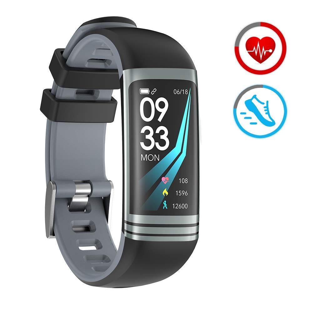 ZKCREATION Montre Connectée Montre Sport avec Cardiofréquencemètre Podomètre Calorie Moniteur de Sommeil Étanche Bracelet Montre Tactile pour Hommes et Femmes Compatible avec Android et iOS product image