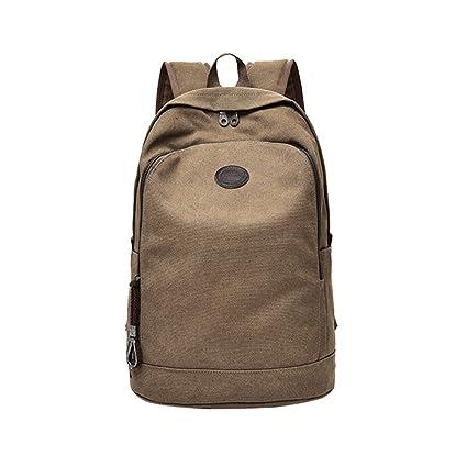 Iusun Casual Canvas Laptop Backpack for Men Student School Wind Superbreak  Handbag Pocket Shoulder Bags Rucksack cb80a9065b17f