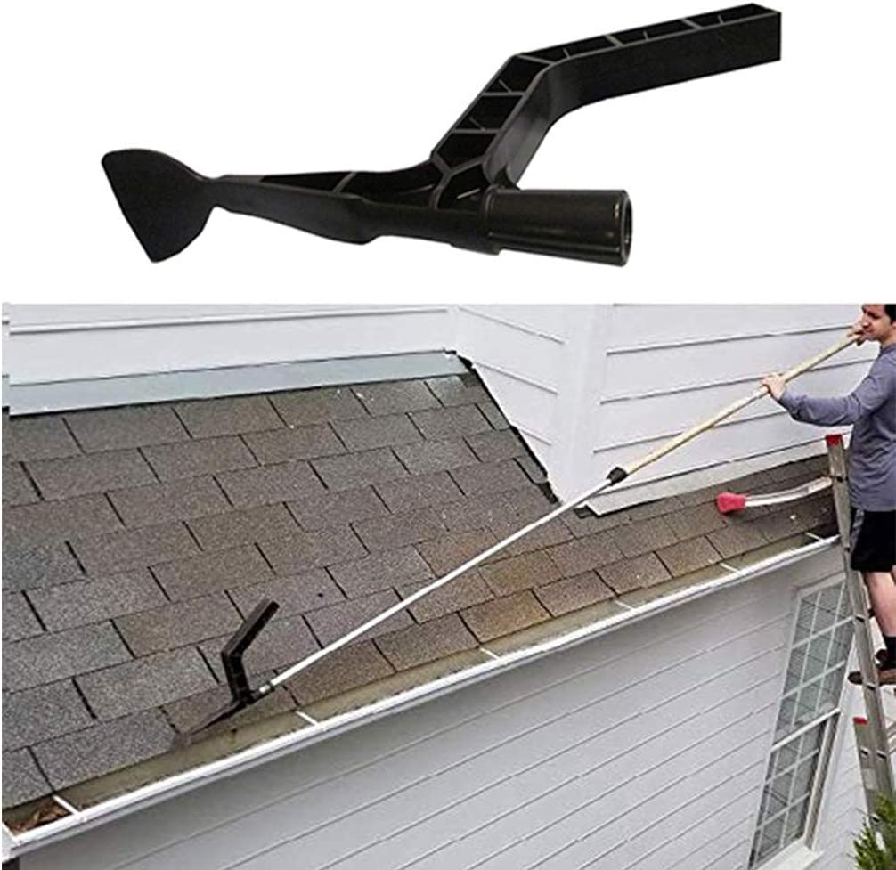 Kiwini Home Gutter Tool Gutter Cleaning Spoon and Scoop, Threaded Design Roof Gutters Cleaning Tool for Garden, Ditch, Villas, Townhouses
