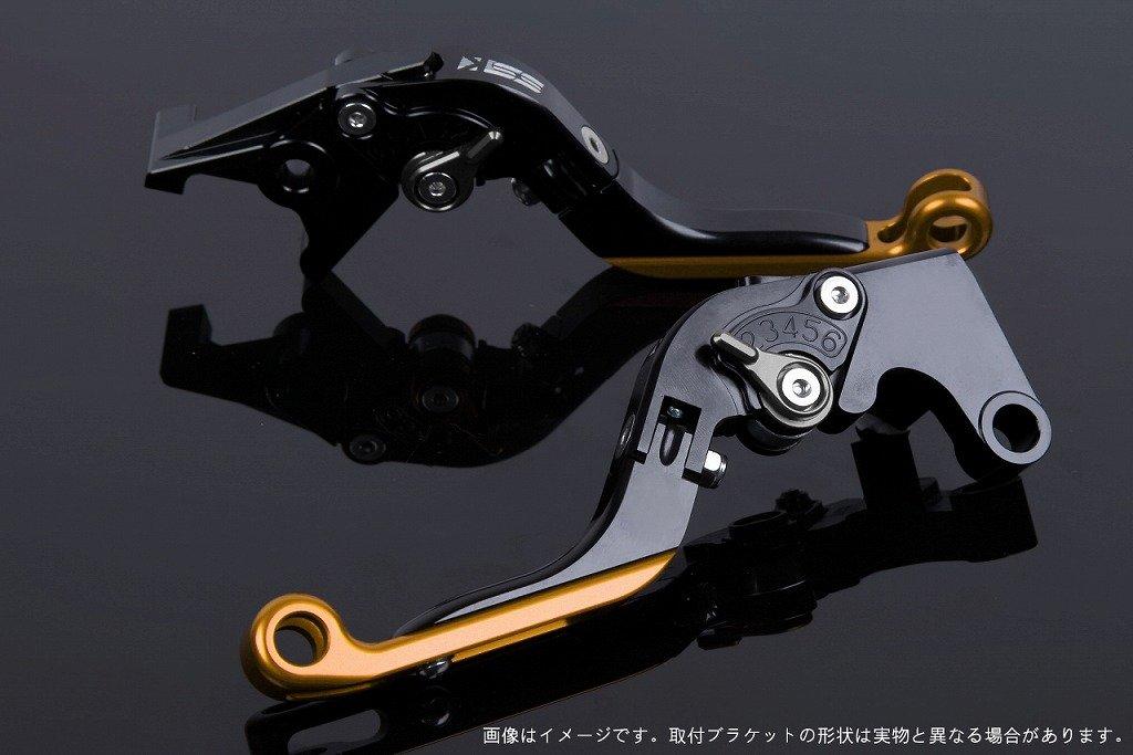 SSK アジャストレバー 可倒延長式 レバー本体カラー:ブラック アジャスターカラー:チタン エクステンションカラー:ゴールド SU0405842-TMGD B01N23YW2Q エクステンション:ゴールド レバー本体:ブラック