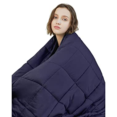 YnM Weighted Blanket (20 lbs, 60''x80'', Queen Size) | 2.0 Heavy Blanket | 100% Cotton Material with Glass Beads.