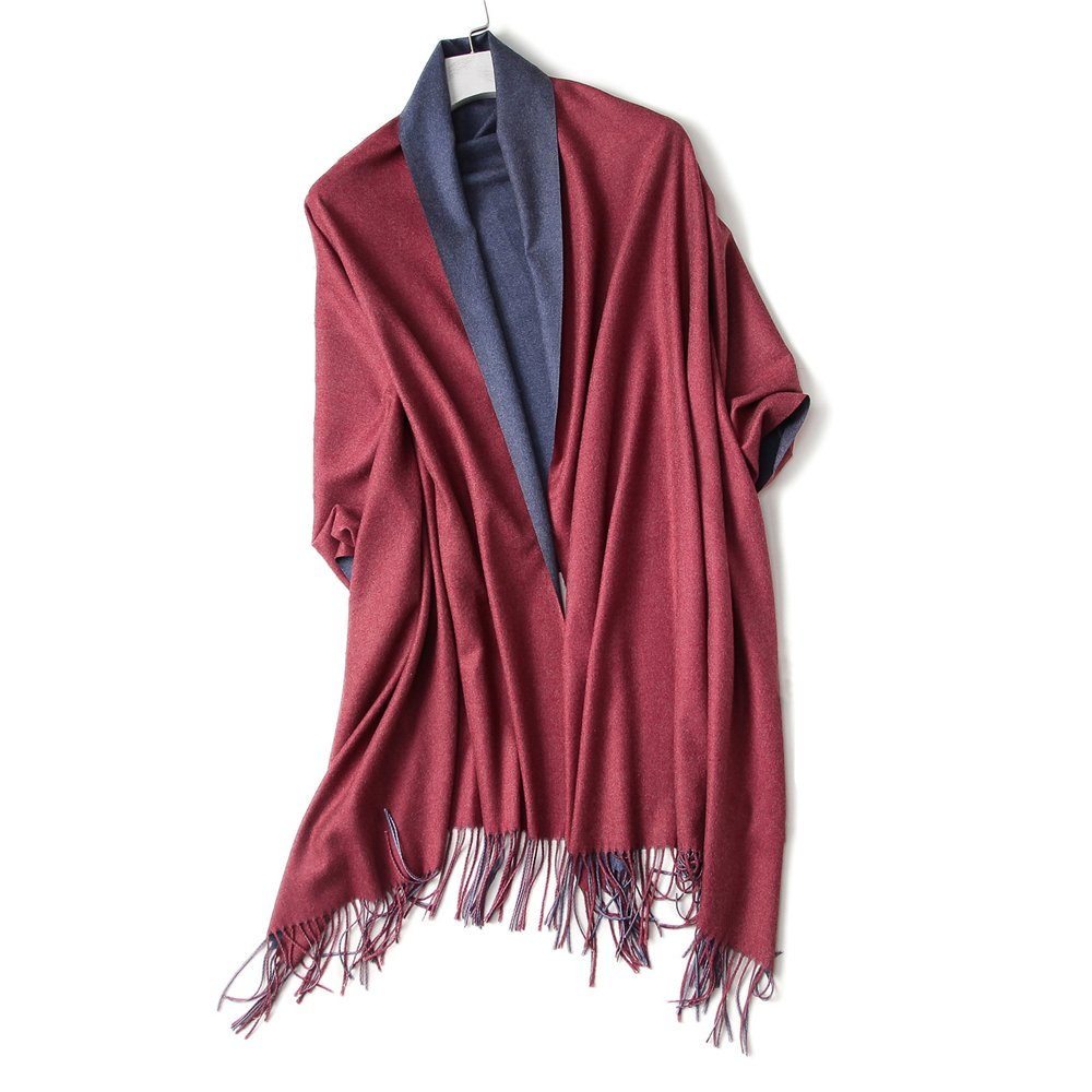 Cashmere Feel Winter Scarf Blanket for Women 2 Tone Warm Shawls and Wraps Oversized Soft Pashmina (SMYR05)
