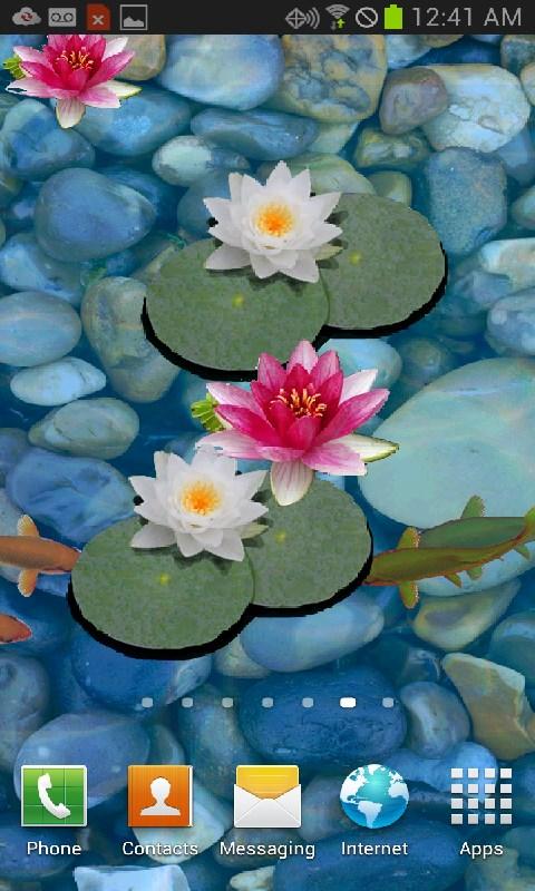 3d koi pond live wallpaper appstore for android for Koi pond screensaver