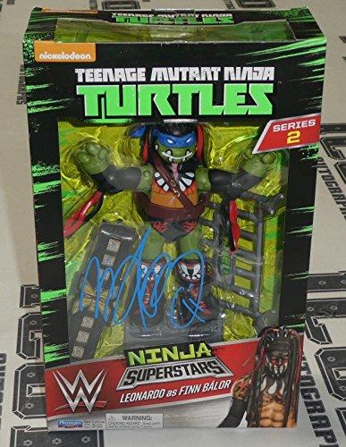(Finn Balor Signed WWE TMNT Ninja Turtles Action Figure BAS Beckett COA Demon Leo - Beckett Authentication)