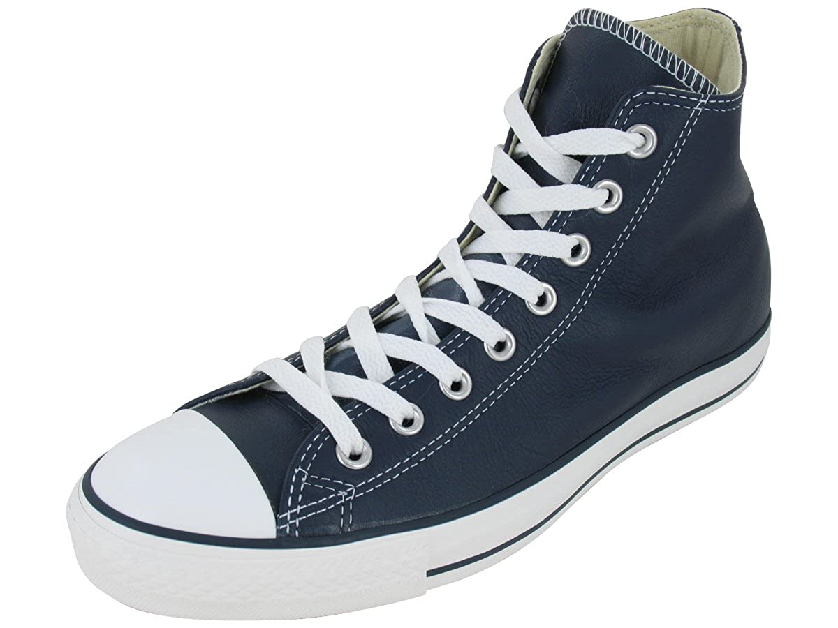 bluee Converse Women's Chuck Taylor All Star Leather High Top Sneaker