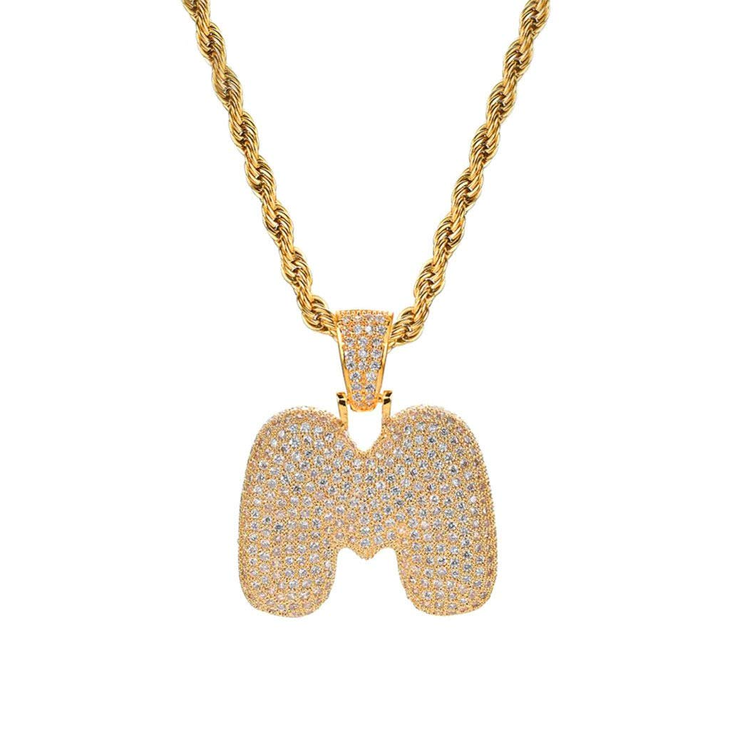 Fashion Hiphop Gold English Letter Design Novelty Pendant Necklace Jewelry Female Accessories Gift
