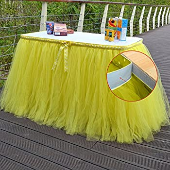 Amazon Com Sundlight Elegant Tulle Table Skirts With Bow
