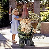 Design Toscano AL50726 Gottfried The Gigantic Gnome Outdoor Garden Statue, Full Color
