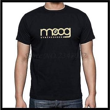 GKKYU Manga Corta Moog Synthesizer Camiseta Negra De Manga Corta ...