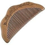 SODIAL(R) Peigne en bois de santal En forme de demi-lune Soins des cheveux