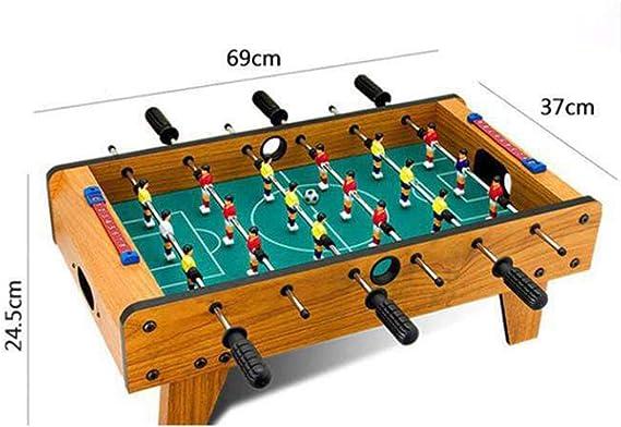 BXWQPP 6 Filas Futbolín Juego de Mesa de Madera con Patas Apoyo ...