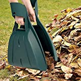 LBK Leaf Scoops : Large Hand Held Rakes for Fast Leaf & Lawn Grass Removal
