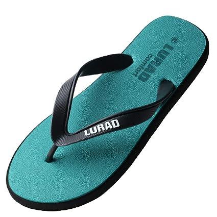 QAR Zapatillas Verdes Zapatillas Slippers De Moda De Verano Zapatillas De Playa De Moda Al Aire