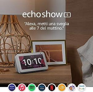 Echo Show 5 – Resta sempre in contatto con l'aiuto di Alexa, Bianco