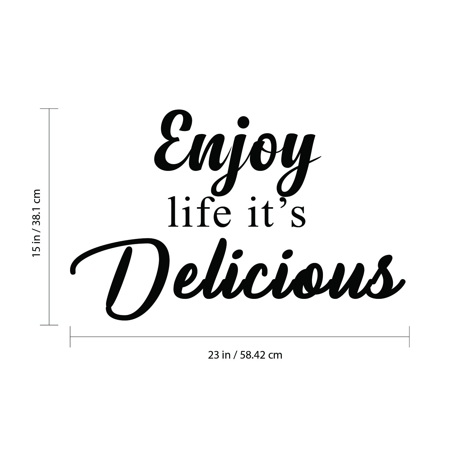 Inspirational Kitchen Decor Trendy Wall Art 15 X 23 Decoration Vinyl Sticker Inspirational Quotes Wall Art Vinyl Decal Motivational Wall Art Decal Enjoy Life Its Delicious