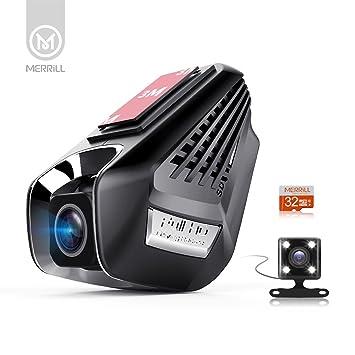 Merrill 1296P cámara oculta cam Lente dual 170 ° visión nocturna gran angular Tarjeta de 15 megapíxeles y 32GB