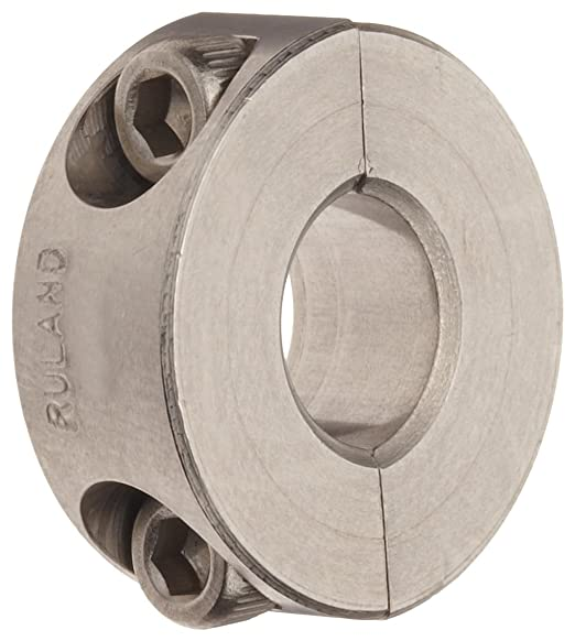 3//4 Width Aluminum 3 1//4 OD Ruland SP-35-A Two-Piece Clamping Shaft Collar 2.188 Bore