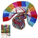 Curtain Cord - SODIAL(R)Colorful Door Window Panel Room Divider String Curtain Strips Tassels