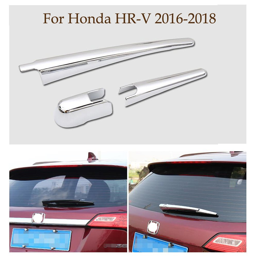 Yingchi Car Silver ABS Chrome Rear Rain Windscreen Window Wiper Cover Rear Wiper Blade Cover Trim For Honda HR-V 2016-2017 2018 Yingchiyin Auto Parts Co. Ltd