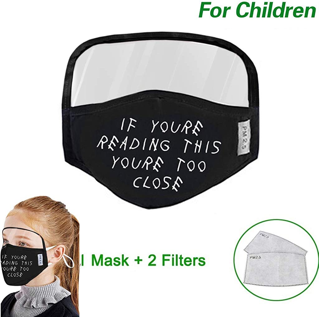 7-15 Days Delivery 1PC Face 2PC Filter Children Washable Reusable Face Protect Balaclava With Eye Shield For Boys Girls Kids